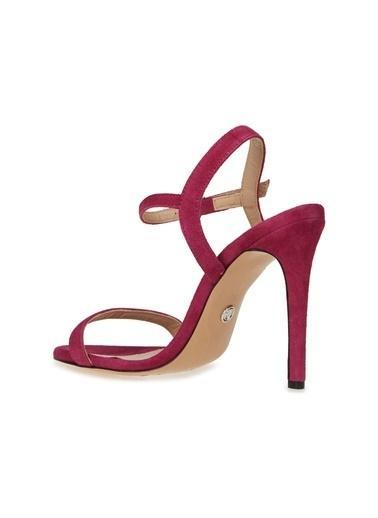Divarese Divarese 5025196 Topuklu Süet Fuşya Kadın Sandalet Fuşya